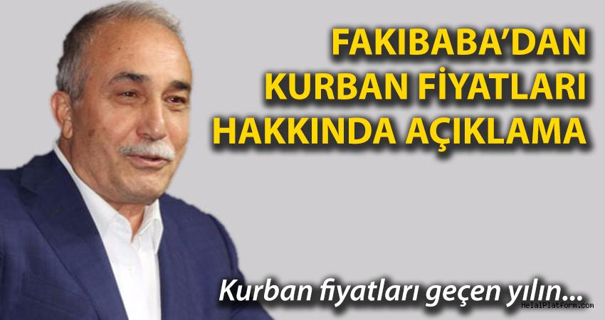 Bakan Fakıbaba'dan Kurban fiyatları hakkında önemli açıklamalar