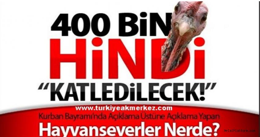 Kurban katliamdır diyen hayvanseverlerden ses yok