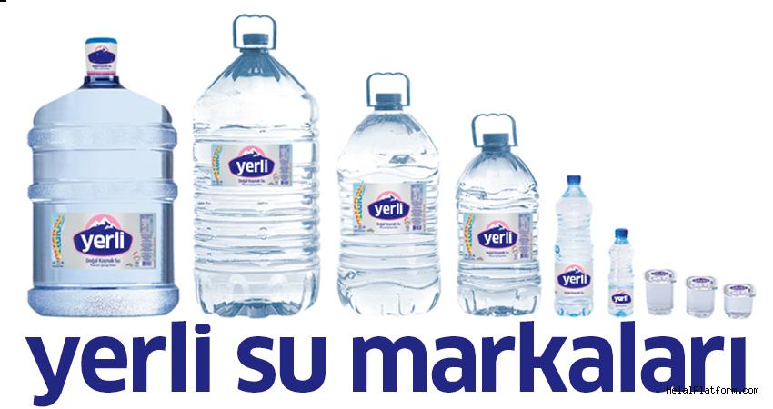 Yerli su firmalarının listesi