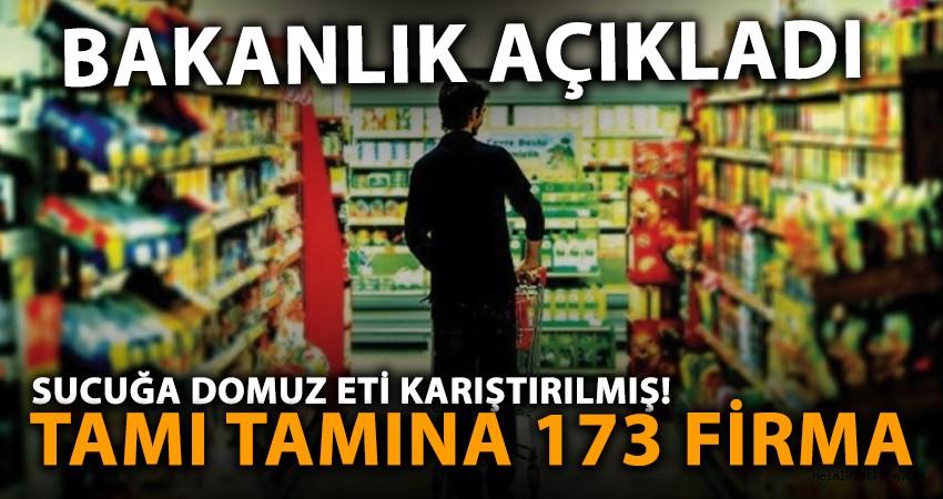 Bakanlık, 173 firmayı 282 ürünü deşifre etti! 'At eti, domuz yağı'