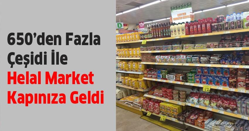 Evinize en yakın markette 650 çeşit helal sertifikalı ürün var!