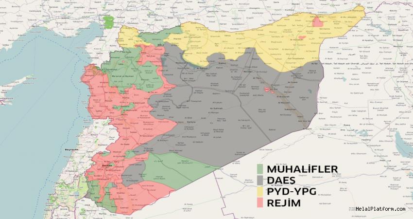 Suriye haritası son durum 2017 (GÜNCEL)