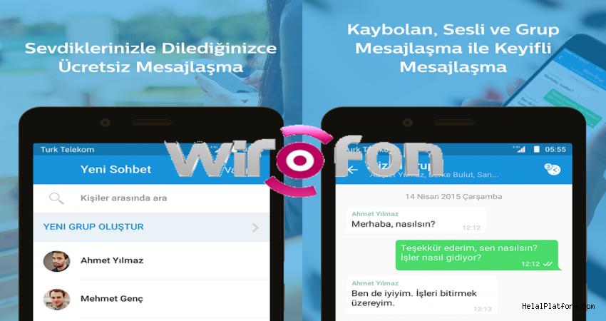 Telekom Wirofon uygulaması ile anlık mesajlaşma servisi kurdu